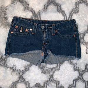 """True Religion """"Daisy"""" Shorts Size 28"""